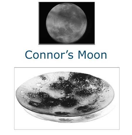 Connors Moon Glass Art Bowl - Judith Menges
