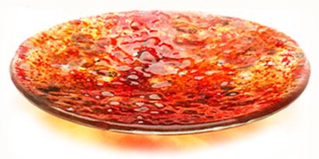 Citrine Glass Art Bowl - Judith Menges