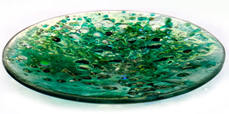 Emerald Glass Art Bowl - Judith Menges