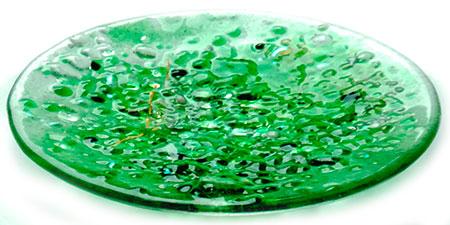 Jade Glass Art Bowl - Judith Menges