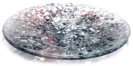 Silver Glass Art Bowl - Judith Menges