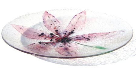 Star Lily Glass Art Bowl - Judith Menges