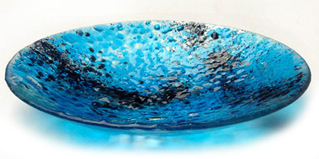 Turquoise Glass Art Bowl - Judith Menges