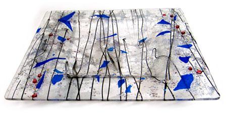 Square Glass Art Bowl - Judith Menges