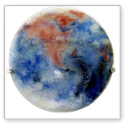 Earth Planet wall hung glass art - Judith Menges