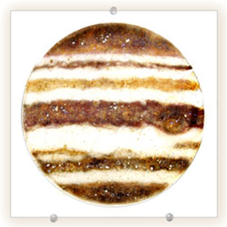 Jupiter wall hung glass art - Judith Menges