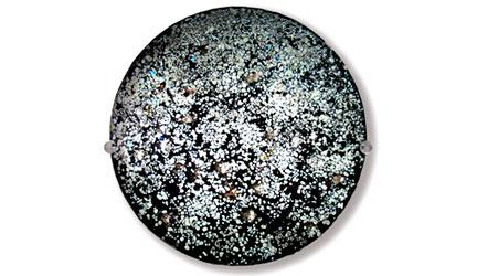 Mercury wall hung glass art - Judith Menges