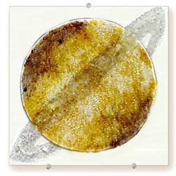 Saturn wall hung glass art - Judith Menges