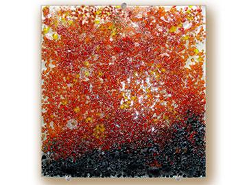 Amber square bowl - Judith Menges
