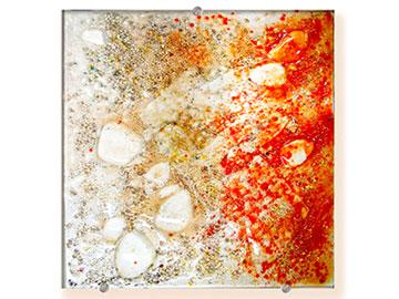 Citrine Square bowl - Judith Menges