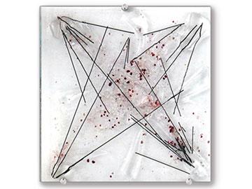 Rose Quartz Glass Art Bowl - Judith Menges