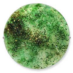 Peridot Glass Art Gemstone - Judith Menges