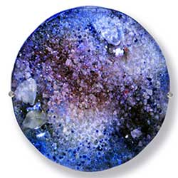 Tanzanite Glass Art Gemstone - Judith Menges